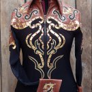 F-2931 WESTERN HORSEMANSHIP RIDING SHOWMANSHIP RAIL PLEASURE JACKET SHIRT - MED