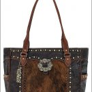 AMERICAN WEST MIDNIGHT TRAILS CARRY ON TOTE BAG MAGNETIC CLOSURE COMPARTMENTS