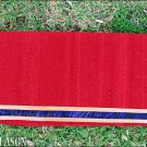 296-F RED HILASON WESTERN BARREL WOOL PAD BLANKET WITH HAIR ON INLAY BORDER