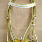 PA427F- HILASON HORSE TACK LEATHER WHITE ENGLISH PADDED BRIDLE W/ REINS - LARGE