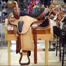 "T206AMF- HILASON FLEX-TREE BARREL RACING TRAIL RIDING WESTERN SADDLE 14"" 16"""