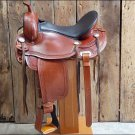 F-TO109 HILASON TREELESS WESTERN TRAIL BARREL RACING SADDLE 18
