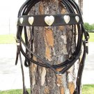 WESTERN DRAFT LEATHER TACK HORSE BRIDLE HEADSTALL REINS PA342