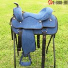 CS111-F HILASON FLEX DENIM WESTERN TRAIL PLEASURE SADDLE 16