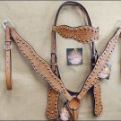 HILASON WESTERN HAND TOOL LEATHER HORSE BRIDLE BREAST COLLAR HEADSTALL LIGHT OIL