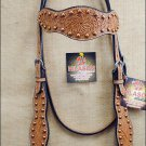 NEW HILASON WESTERN HAND TOOLED LEATHER HORSE BRIDLE HEADSTALL LIGHT OIL S377