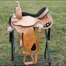 TT203F- HILASON FLEX-TREE BARREL RACING TRAIL RIDING WESTERN SADDLE 14&quot; 15&quot;