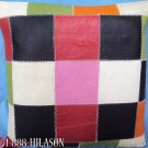 Smooth Leather PatchWork Cushion Pillow Cover PL435