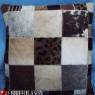 F-PL399 Cowhide Leather Hair-On PatchWork Cushion Pillow Cover