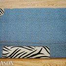 LB138F- HILASON WESTERN WOOL SADDLE PAD BLANKET NEW ZEALAND – LIGHT BLUE