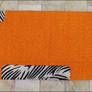 LB137F- HILASON WESTERN WOOL SADDLE PAD BLANKET NEW ZEALAND – ORANGE