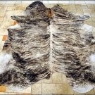 F-HS731 HILASON MEDIUM EXOTIC BRAZILIAN HAIR-ON LEATHER COWHIDE THROW RUG CARPET