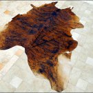 F-HS741 HILASON MEDIUM EXOTIC BRAZILIAN HAIR-ON LEATHER COWHIDE THROW RUG CARPET