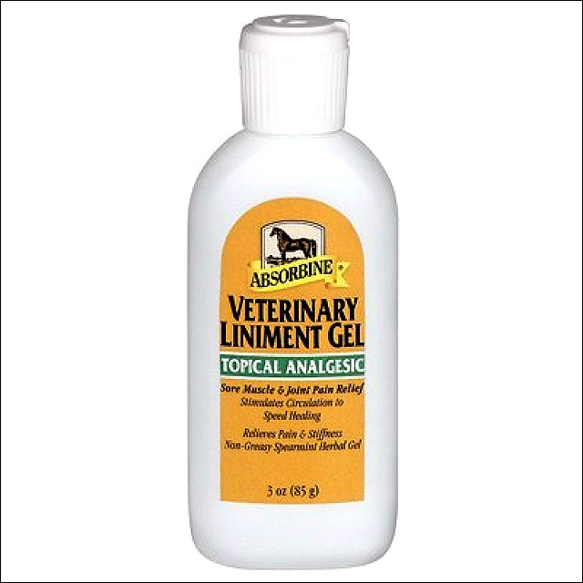 ABSORBINE HORSE MUSCLE RELIEF VETERINARY LINIMENT GEL 3 OZ