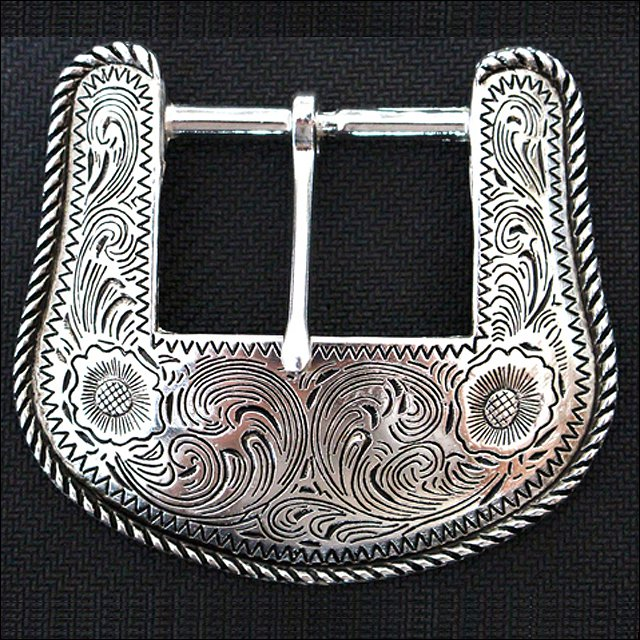 NEW HILASON CARVED WESTERN RANGER 1.5 inch BELT BUCKLE