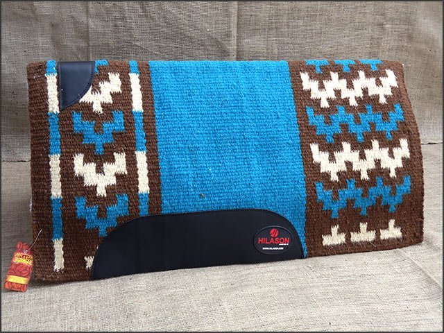 FE204 HILASON SHOW NEW ZEALAND WOOL SADDLE BLANKET WESTERN RODEO TEAL