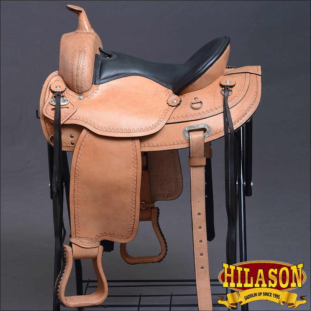 DF107-F HILASON WIDE GULLET DRAFT WESTERN TRAIL ENDURANCE HORSE SADDLE 16""