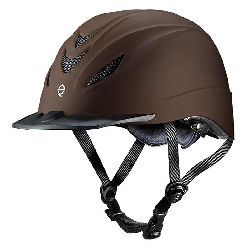 TROXEL INTREPID CHOCOLATE LOW PROFILE PERFORMANCE ALL PURPOSE RIDING HELMET