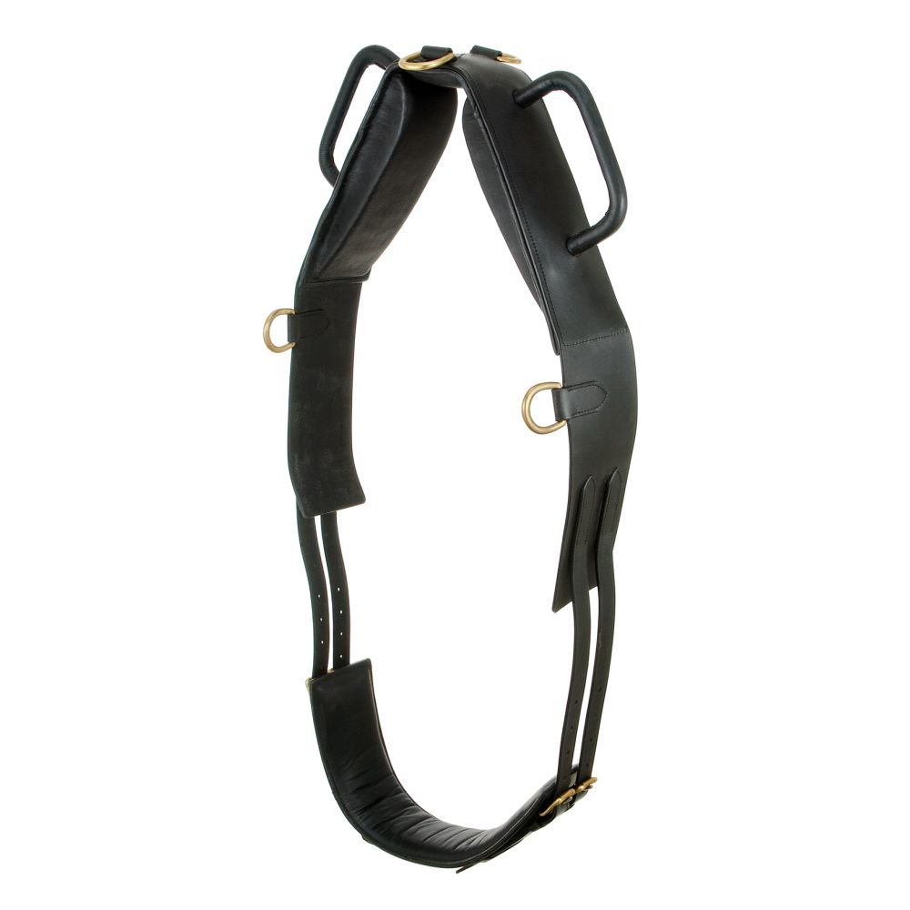 TOUGH 1 PERFORMERS 1ST CHOICE VAULTING LEATHER SURCINGLE BLACK