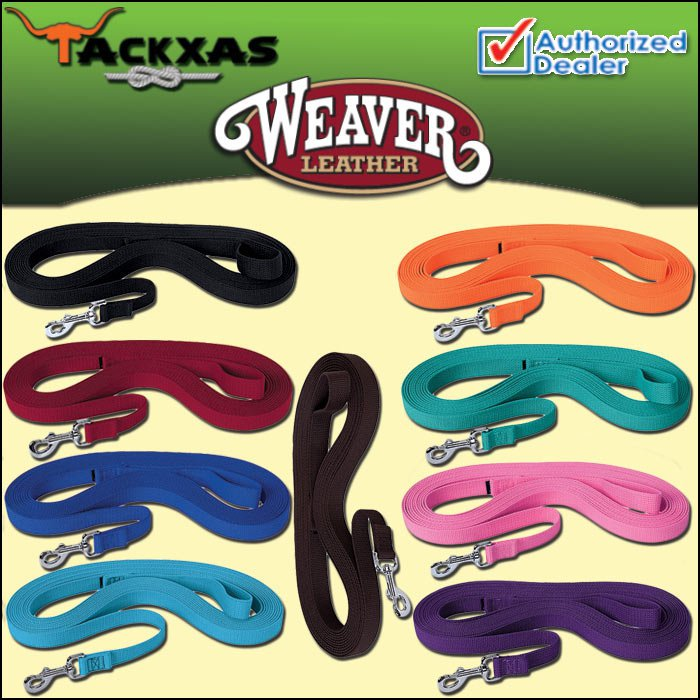 WEAVER TACK HORSE FLAT COTTON LUNGE LINE WITH NICKEL PLATED 225 SNAP