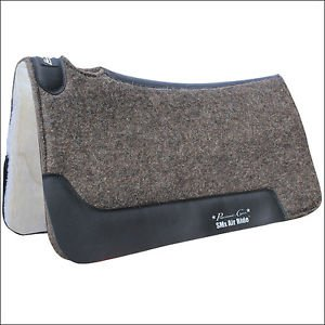 PROFESSIONAL CHOICE COWBOY FELT DELUXE AIR RIDE HORSE ROPER SADDLE PAD CHARCOAL