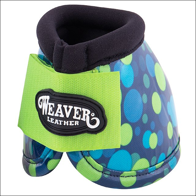 NAVY LIME BUBBLE WEAVER FASHION NO TURN MEDIUM HORSE BELL BOOTS