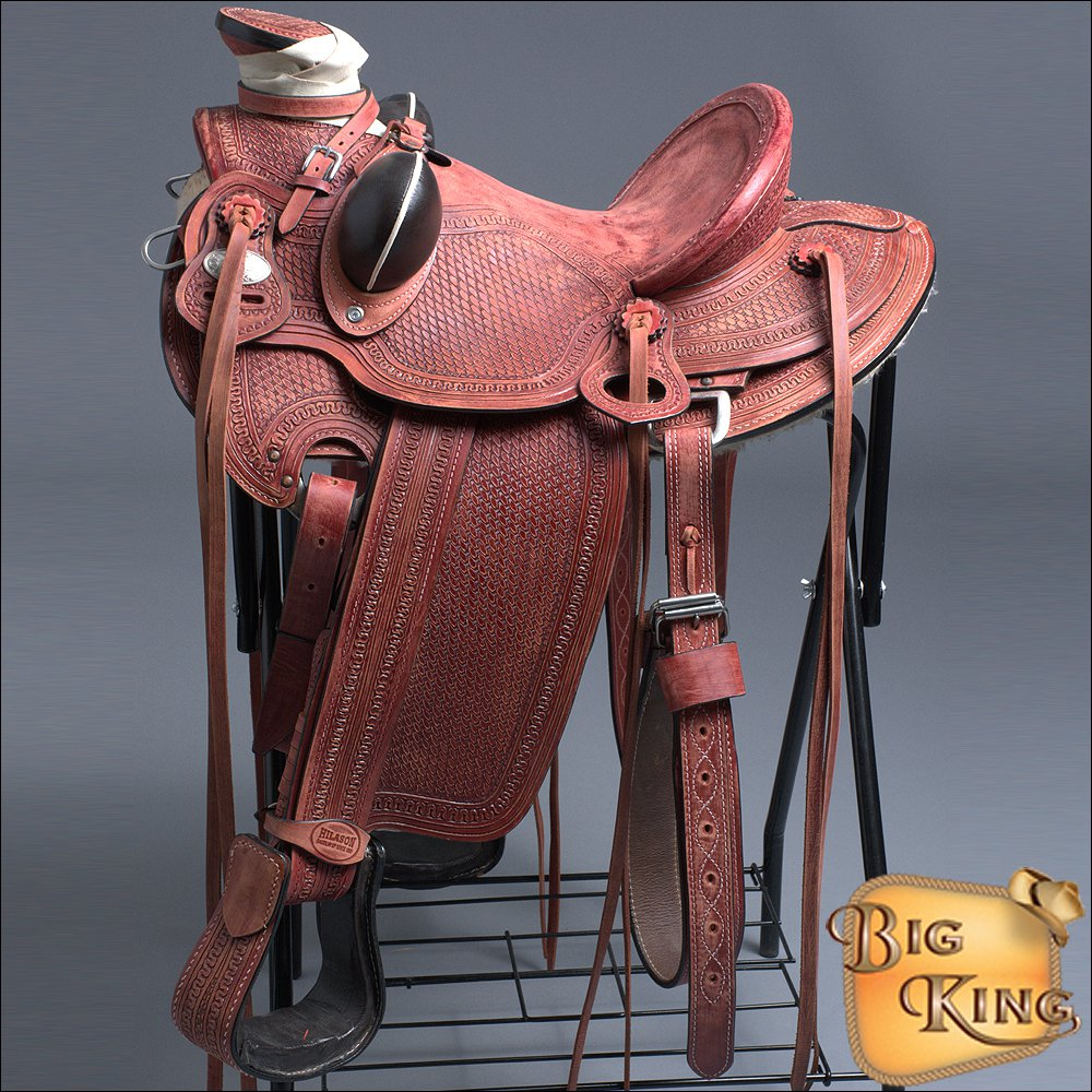 "WD005-15"" HILASON BIG KING SERIES WESTERN WADE RANCH ROPING COWBOY TRAIL SADDLE"