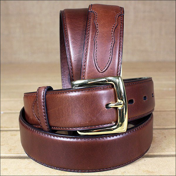 3D 40 x 1 1/2 INCH BROWN MEN'S WESTERN BASIC LEATHER BELT REMOVABLE BUCKLE