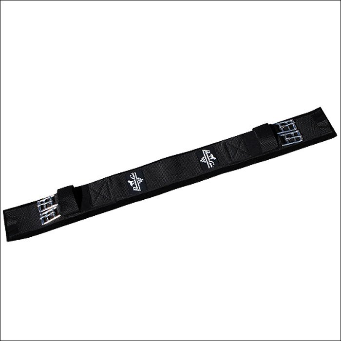 28in. PROFESSIONAL CHOICE BLACK NON-SLIP ELASTIC SMX DRESSAGE HORSE GIRTH CINCH