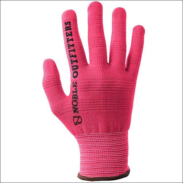 MEDIUM NOBLE OUTFITTERS TRUE FLEX RIGHT HAND COTTON ROPING GLOVES PINK
