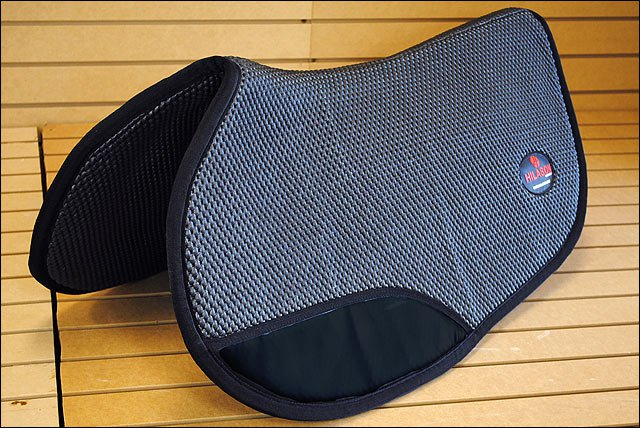 BLACK HILASON CONTOURED GAITED HORSE SADDLE PAD WITH TACKY TACK BASE