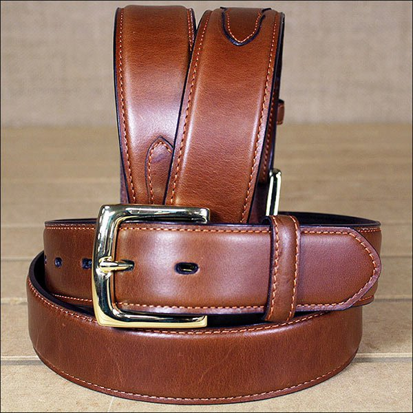 3D 52 x 1 1/2 INCH TAN MEN'S WESTERN BASIC LEATHER BELT REMOVABLE BUCKLE