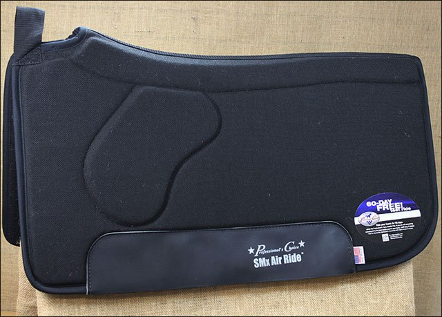 BLACK PROFESSIONAL CHOICE SMX AIR RIDE HORSE SADDLE FELT PAD