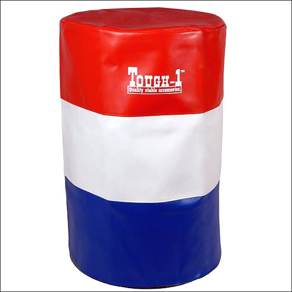 SET OF 3 TOUGH 1 VINYL BARREL COVERS BARREL RACING RED WHITE BLUE