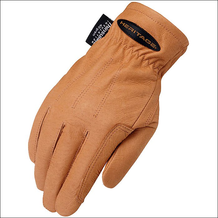 10 SIZE TAN HERITAGE COLD WEATHER RIDING LEATHER GLOVES HORSE EQUESTRIAN