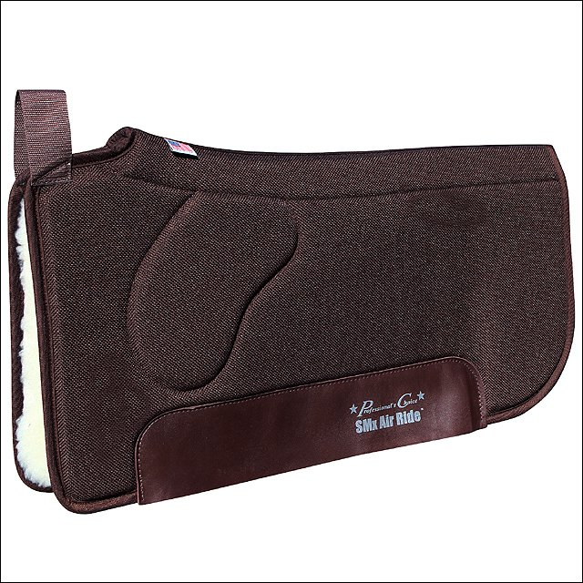 30X33 PROFESSIONAL CHOICE SMX AIR RIDE ORTHOSPORT HORSE FLEECE SADDLE PAD BROWN