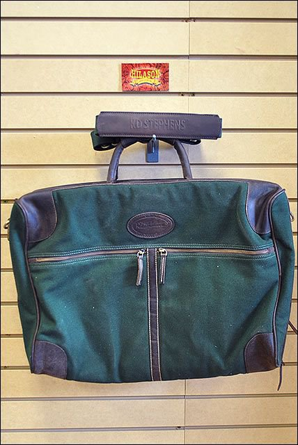 KD STEPHENS CANVAS LEATHER PULLMAN BRIEFCASE TRAVEL DUFFEL LUGGAGE BAG GREEN