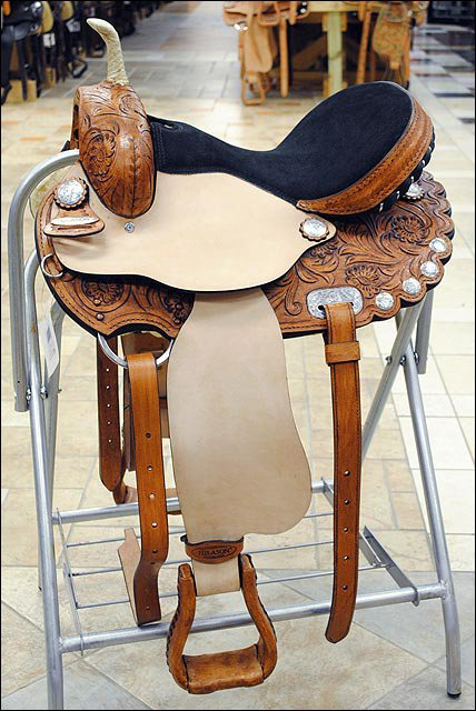 TO104SB-F HILASON TREELESS WESTERN BARREL RACING TRAIL PLEASURE SADDLE 14""