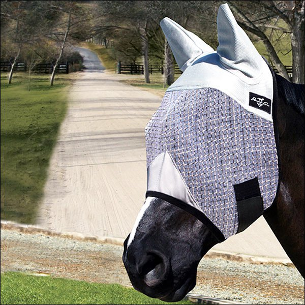 PROFESSIONALS CHOICE WESTERN HORSE SMALL COB FLY MASK WITH EARS