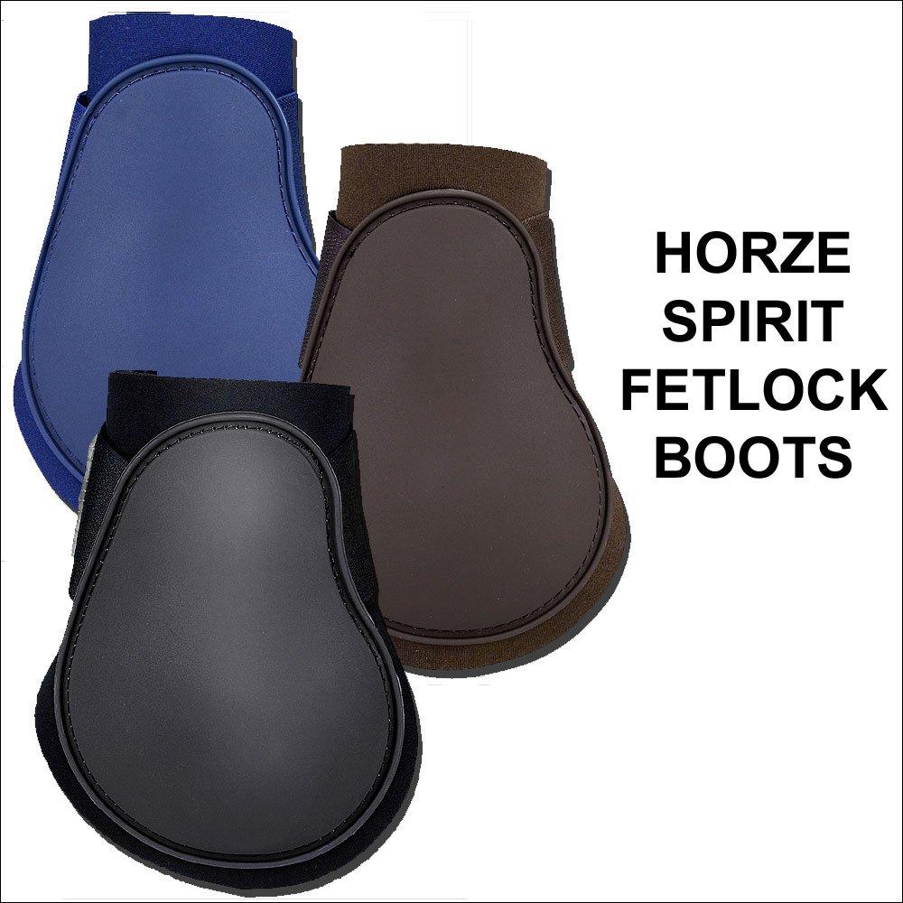 HORZE NEOPRENE SPIRIT FETLOCK BOOTS HIND LEG PROTECTION HORSE PAIR VELCRO FIT