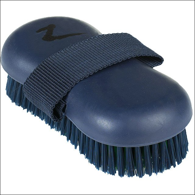 HORZE WESTERN SOFT GRIP HORSE SYNTHETIC BRISTLES BODY BRUSH DARK BLUE