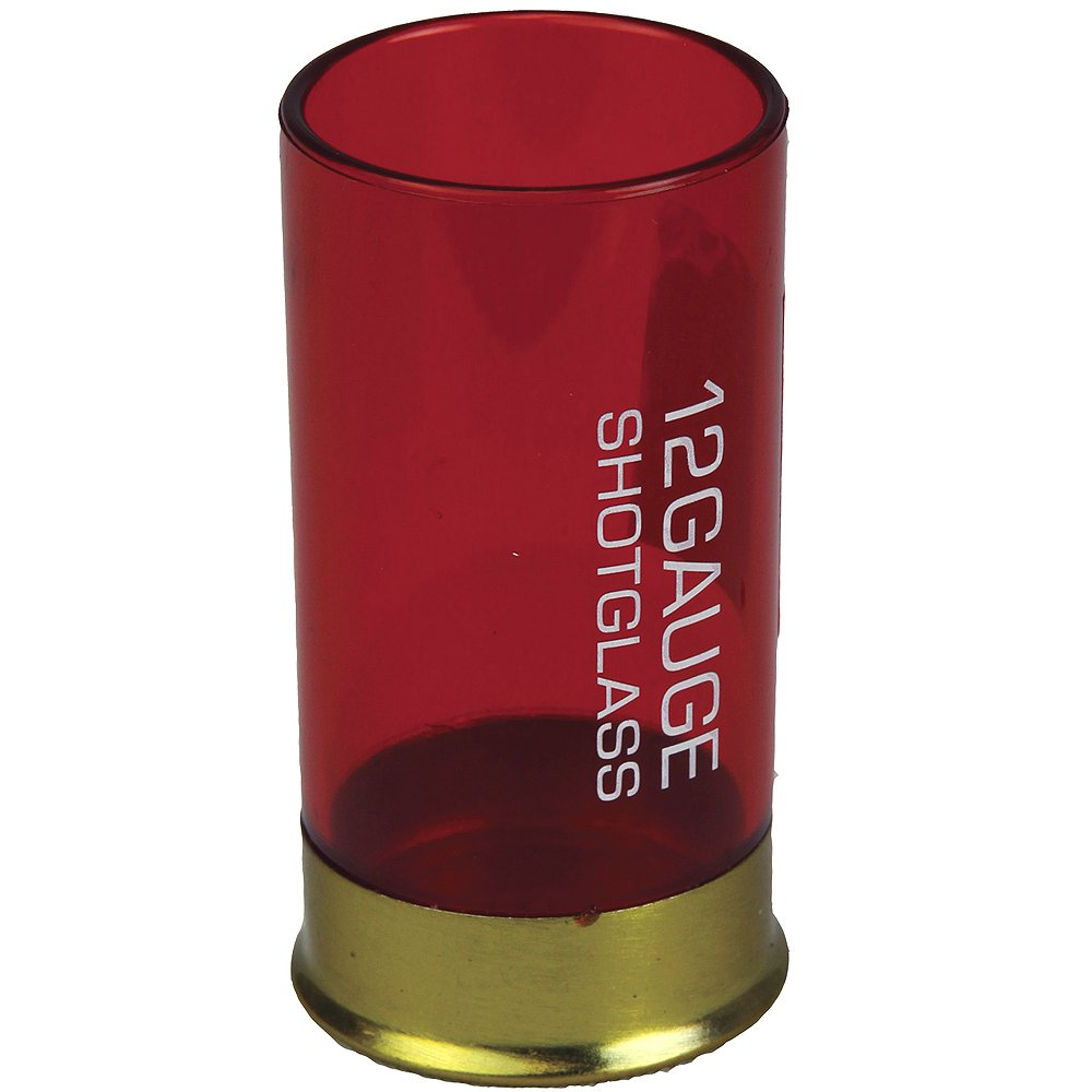 RIVERS EDGE SHOT SHELL RESISTANT PLASTIC SHOT GLASS RED