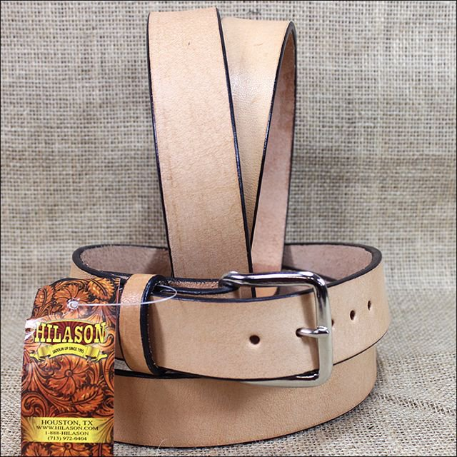HILASON HAND MADE WESTERN TOUGH WORKING LEATHER MEN'S WORK BELT - TAN OR BLACK