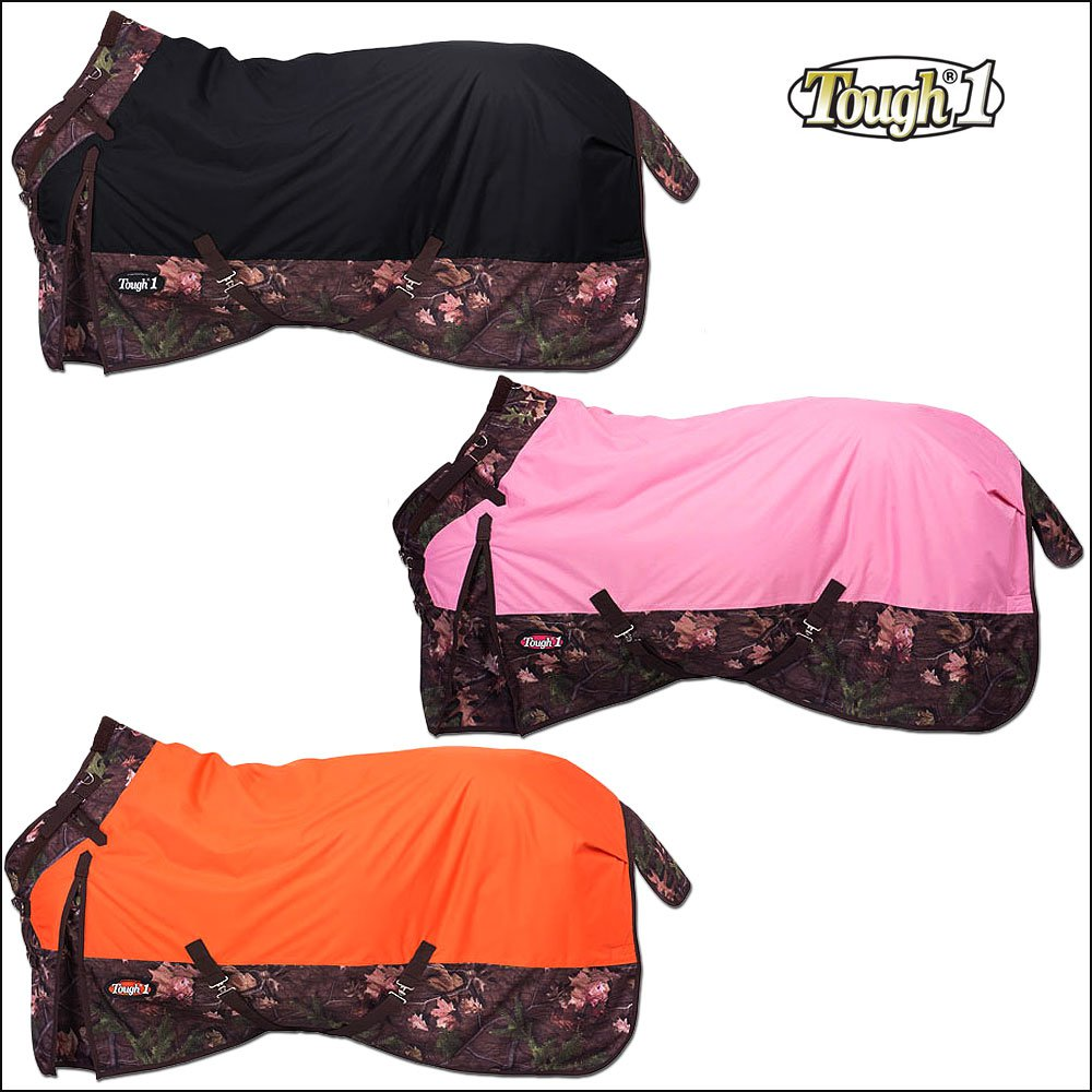 TOUGH-1 TIMBER 1200D WATERPROOF CAMOUFLAGE POLY SNUGGIT TURNOUT HORSE BLANKET