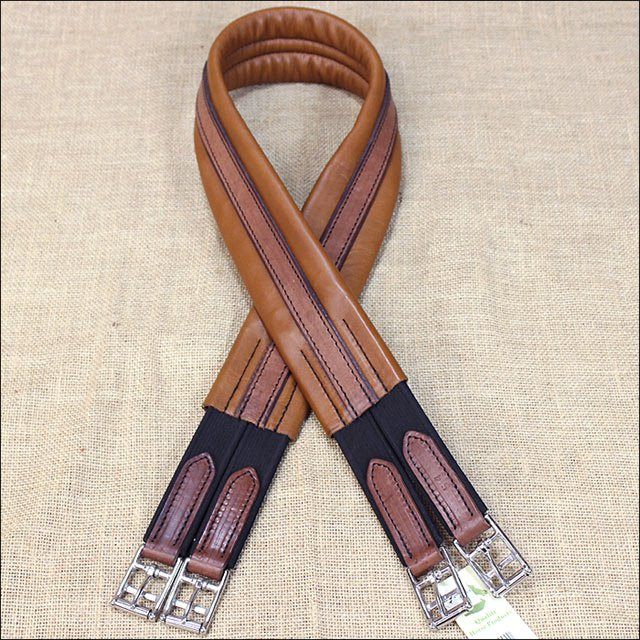 46 inch HILASON BROWN ENGLISH AMERICAN LEATHER HORSE SADDLE GIRTH CINCH