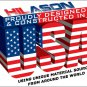 MADE IN USA BLACK WHITE HILASON WESTERN WOOL SHOCK BUSTER SADDLE BLANKET PAD