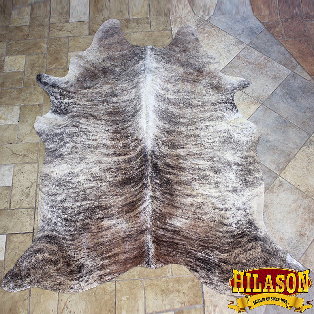 H151F HILASON HAIR ON LEATHER BRAZILIAN COWHIDE SKIN RUG CARPET EXOTIC TRI COLOR