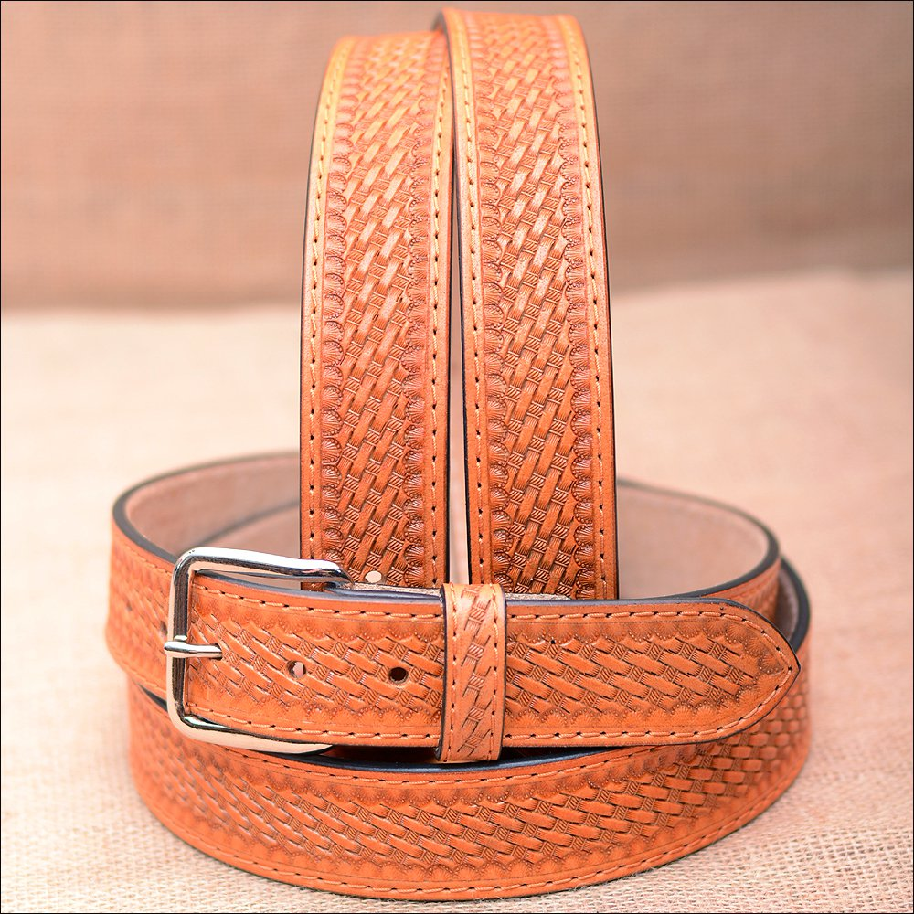 "42"" HILASON HAND MADE HEAVY DUTY BUFFALO HIDE LEATHER STICHED BELT"