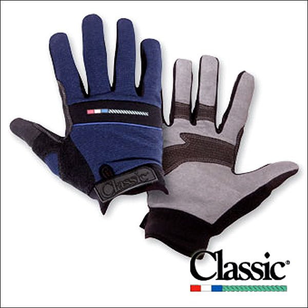 LRG NAVY CLASSIC EQUINE ROPE SYNTHETIC ROPING GLOVES RIGHT HAND ADJUSTABLE CUFFS