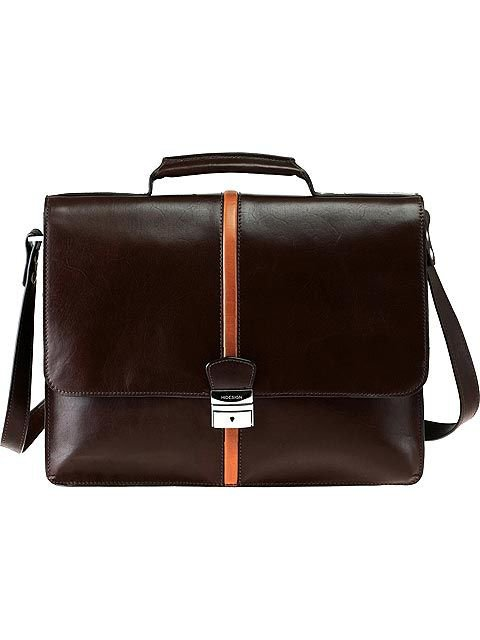 Scully Computer Briefcase - Brown